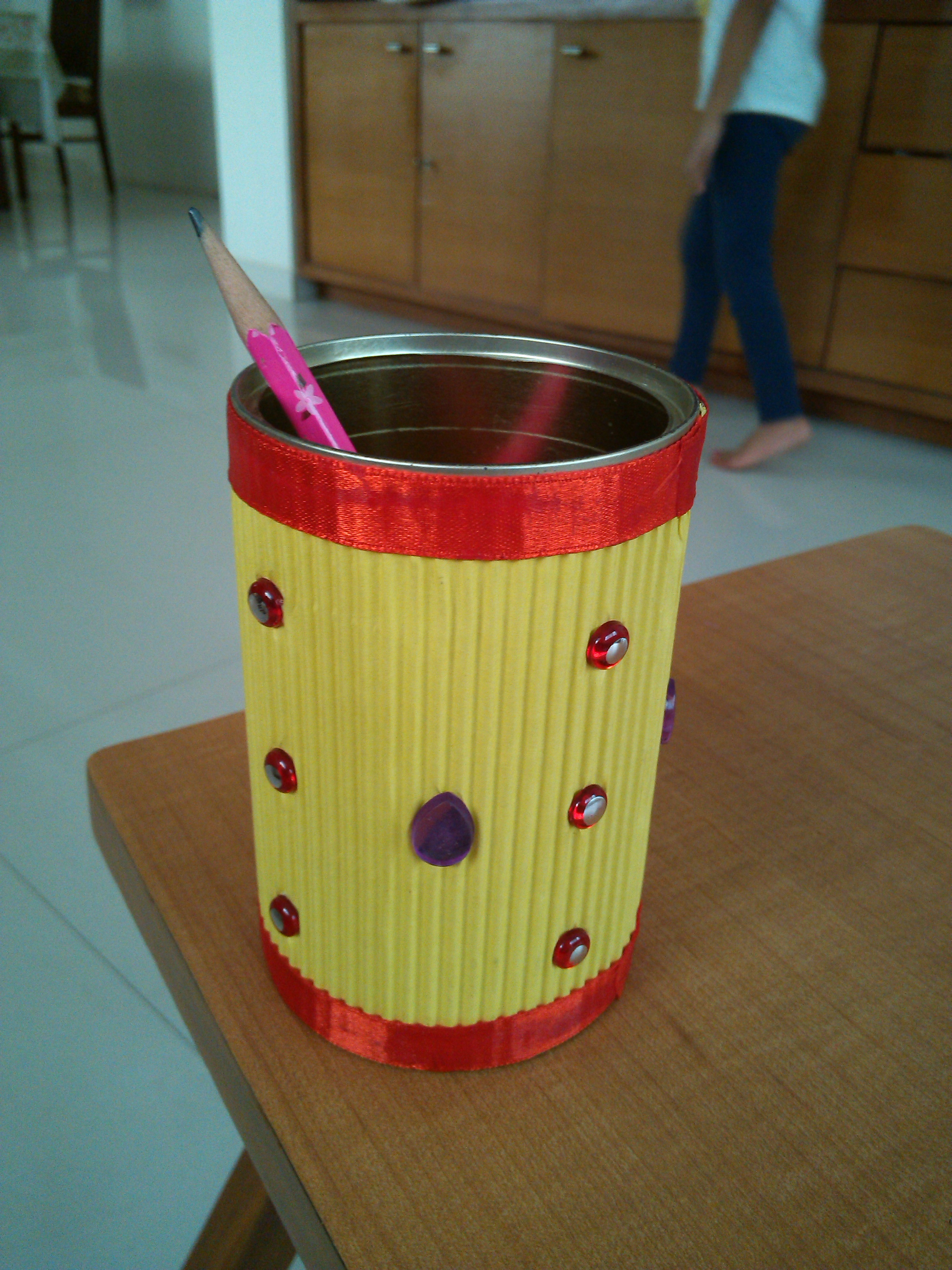 Best out of waste pencil stand juhu pre primary art for To make best out of waste